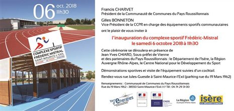 COMPETITION BE/MI - INAUGURATION STADE FREDERIC MISTRAL - SAINT MAURICE L'EXIL